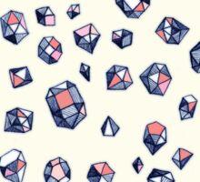 Navy & Coral Crystals Sticker