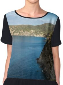 Monterosso and the Cinque Terre Coast Chiffon Top