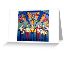 Interior  Music session with dancers   Greeting Card