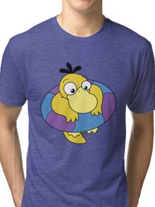 Floating Psyduck  Tri-blend T-Shirt