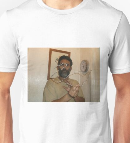 Abstract bird/Swan -(050616)- Wire Sculpture Unisex T-Shirt
