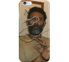 Abstract bird/Swan -(050616)- Wire Sculpture iPhone Case/Skin