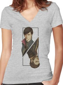 Games :: Dishonored 2 :: Art Women's Fitted V-Neck T-Shirt