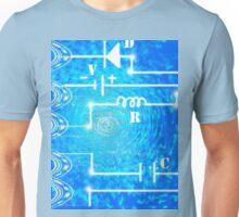 Blue Light Pulse Circuit Unisex T-Shirt