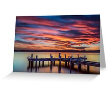 Squid's Ink Jetty Belmont NSW Australia Greeting Card