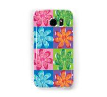 Multi colored flowers - digital art Samsung Galaxy Case/Skin