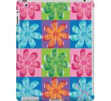 Multi colored flowers - digital art iPad Case/Skin