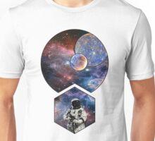 Geometric-esque Gun Wielding Astronaut Unisex T-Shirt