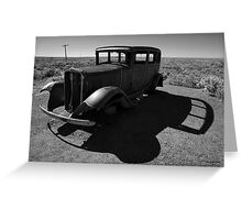 Old Vehicle VI BW Greeting Card