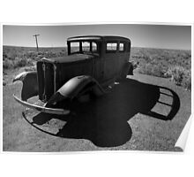 Old Vehicle VI BW Poster