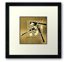 Cheese geometry Framed Print