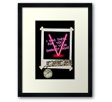 Following The Map That Leads To You Framed Print