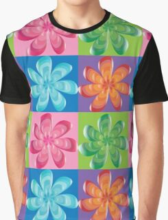 Multi colored flowers - digital art Graphic T-Shirt