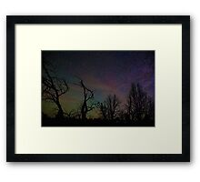 Aurora Starscape Cosmos Over Burnt Forest  Framed Print