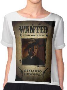 Buffy Caleb Nathan Fillion Wanted 4 Chiffon Top