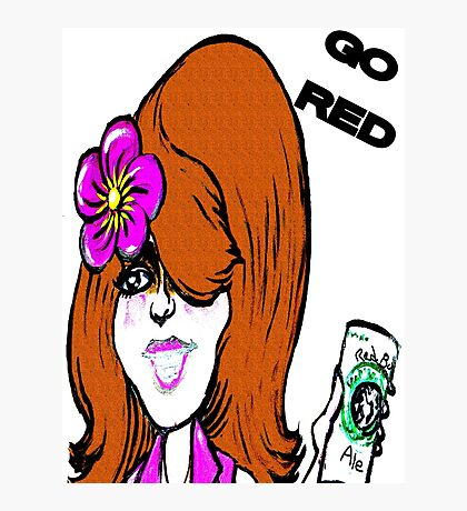 Go Red Photographic Print