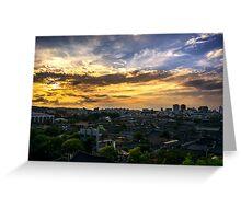 Jeonju Hanok Village Sunset Greeting Card