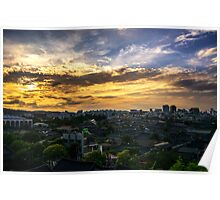 Jeonju Hanok Village Sunset Poster