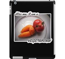 Kiss me, I am a vegetarian iPad Case/Skin