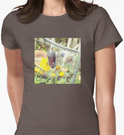 Monarch Butterfly Chrysalis Womens Fitted T-Shirt