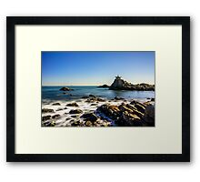 Temple by the sea Framed Print