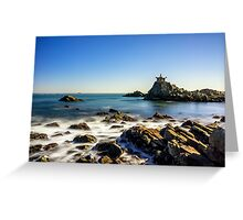 Temple by the sea Greeting Card