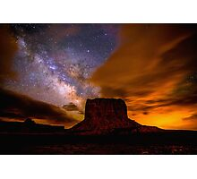 Amazing Milky Way Over Monument Valley Storm  Photographic Print