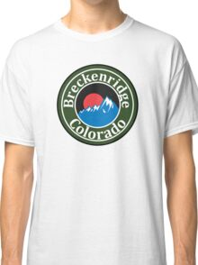 BRECKENRIDGE COLORADO Skiing Ski Mountain Mountains Snowboard Snowboarding Hiking Camping Classic T-Shirt