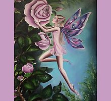 Pink rose fairy tote bag by Gabriella  Szabo