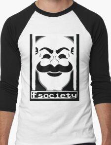 F*** Society! - Mr. Robot - Men's Baseball ¾ T-Shirt