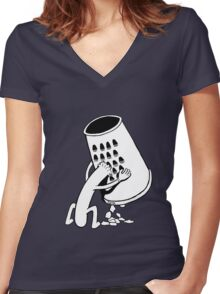Hotdog Fury Women's Fitted V-Neck T-Shirt
