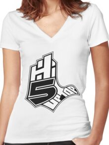 Hi-5 Up Top 2 Women's Fitted V-Neck T-Shirt