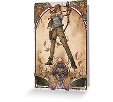 Lara Nouveau Greeting Card