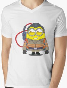 Minion Ghostbuster Mens V-Neck T-Shirt