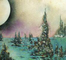 Ocean Moonrise Sticker