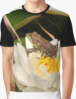 Frog on a Lily Graphic T-Shirt