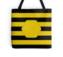 Bee2 (outlined comb) Tote Bag