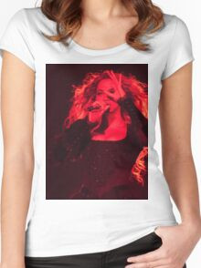 QUEEN B - Red  Women's Fitted Scoop T-Shirt