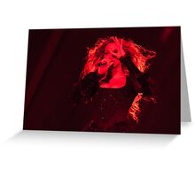 QUEEN B - Red  Greeting Card