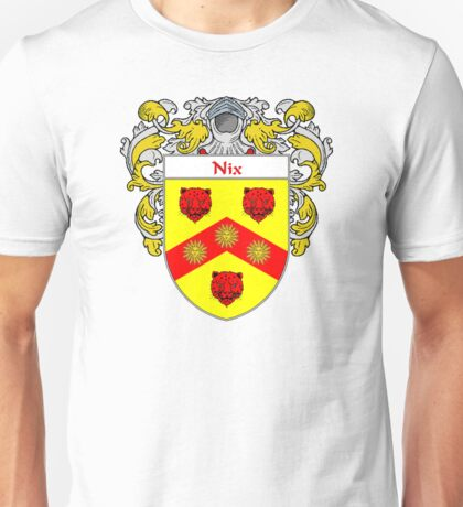 Nix Coat of Arms/Family Crest Unisex T-Shirt