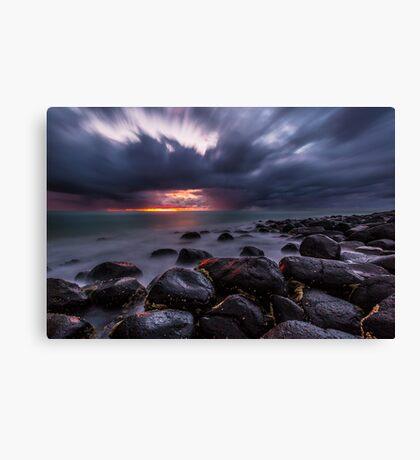Stormy Burleigh Heads Sunrise Canvas Print