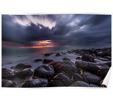 Stormy Burleigh Heads Sunrise Poster