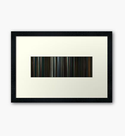 Moviebarcode: The Hobbit: An Unexpected Journey (2012) Framed Print