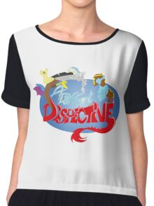 A Different Dispective Logo Chiffon Top