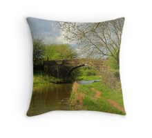 Bridge 1 - Ashby Canal Throw Pillow