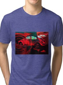 """Bright Red Bug"" Tri-blend T-Shirt"