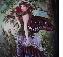 Forest/ garden fairy tote bag by Gabriella  Szabo