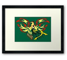 Woman with Phoenix Framed Print