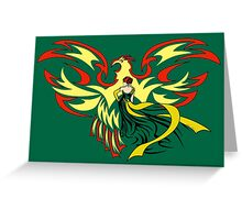 Woman with Phoenix Greeting Card