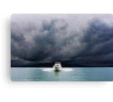 running from the storm Canvas Print